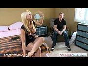 Busty blonde Sarah...