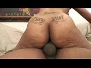 Picture Hot ebony babe with big ass tattoo drilled