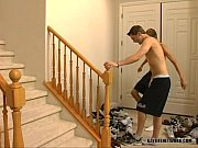 alex and kameron fuck on the stairs – Gay Porn Video
