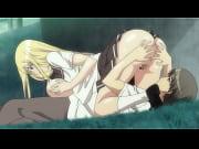 エロアニメ、卒業記念にザーメンを同級生の美女の子宮に注入