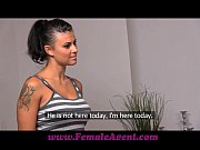 Femaleagent amazing first lesbian casting for gullible beauty