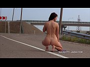 Picture Naughty travel. Nude on the road