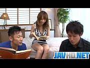Japanese av model fucks hard in raw asian threesome porn