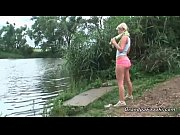 Picture Blonde babe gives head in the nature