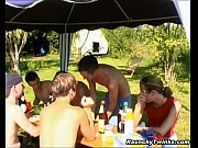 pretty gay twinks group garden banging – Porn Video