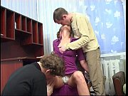 Mature Russian slut fucks with young boys