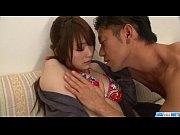 Mayuka Akimoto feels hard pounding in her ...