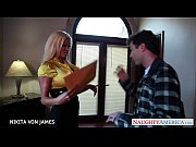 Picture Salacious blonde Nikita Von James ride a big...