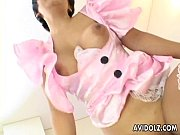 Picture Asian bitch in pink get up and stockings get...