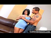 Picture Gabby Quinteros Facialized By Black Cock