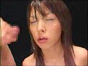 顔面がザー汁でドロドロになるまでぶっかけられるお姉さん