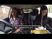 Fake Driving School busty black girl fails test