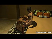 Blindfolded 3D cartoon hunk sucks cock and gets fucked in the ass