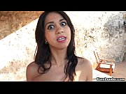 cum swallowing julia de lucia gets her latina mouth filled of cum