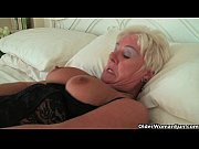 Picture Chubby granny in black stockings masturbates