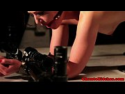 Femdom bdsm sub tied up and flogged
