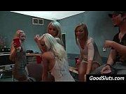 blonde raise glass for sex orgy