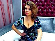 Attractive Big Boobed Girl Plays on Webcam