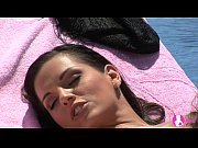 Viv thomas lesbian hd stunning hot brunettes having sex on a sun chair