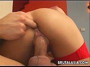 Asian babe Kat gets fucked and