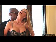 Picture Blonde takes anal plugging from black cock