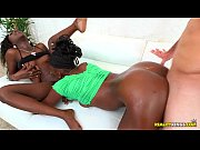 two petite ebony lesbians get banged and covere… – Porn Video