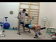 hot teen giving great head in the gym
