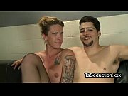 Picture Tranny and guy jerk off dicks each other