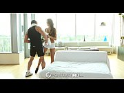 FantasyHD   August Ames sits on her mans face and dick