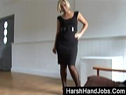 Anna Joy giving a harsh handjo