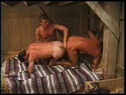 double dildo cowboys – Gay Porn Video