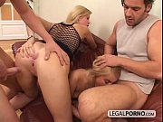 2 sexy blondes and 2 big cocks enjoying a fours...