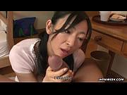 アジアの熟女の大きな脂肪をオフしゃぶり勃起.