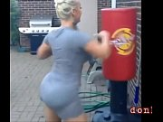 Fine super big booty white women twerk