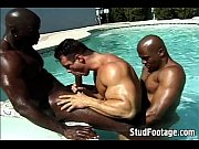 interracial poolside gay anal humping – Gay Porn Video
