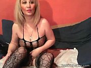 Blonde mature toys her both holes on cam