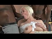 Cheating whore sucking black cocks