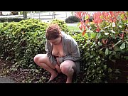 Outdoor peeing and public nudity of pissi ...