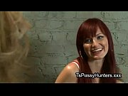 Picture Asian tranny fucks her redhead bestie