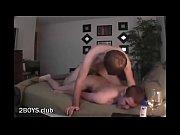Мужчина ласкает грудь языком