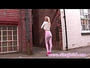 Skin tight pink leggings designer pink high heels out in birmingham