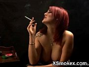 Vibrant Smoking Gal Hot Fucking