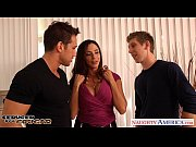 Picture Busty brunette cougar Ariella Ferrera gets double...