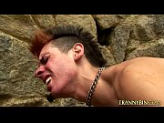 Tranny got a gay slave