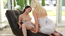Passionate lesbian sex with Lucy Shine and Crys...