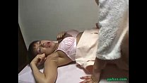 Asian Masseuse Getting Her Arms Tied Guy Sitting To Her Jerking Off His Cock Cum porn videos