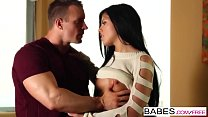 babes striped shorts starring tj cummings and adriana chechik clip