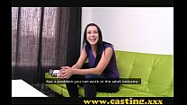 Casting - Crazy chick gets creampie