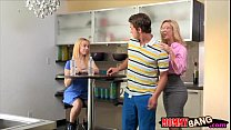Mature Cherie Deville fucking with young couple...