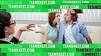 Step daughter Marissa Mae helps step dad by ban... thumb
